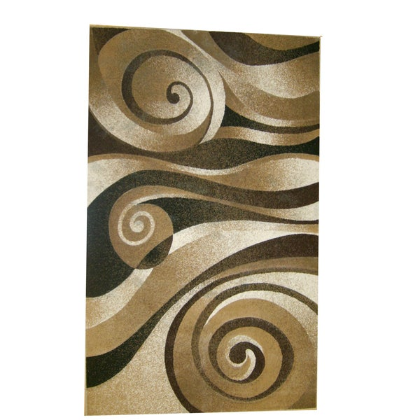 Generations Champagne Abstract Lolli Rug (3'9 x 5'1)