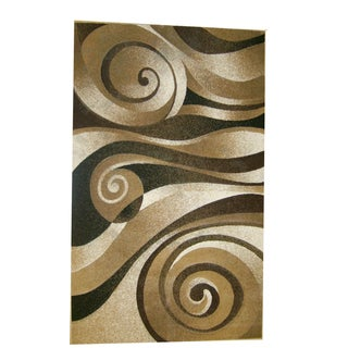 Generations Champagne Abstract Lolli Rug (7'9 x 10'5)