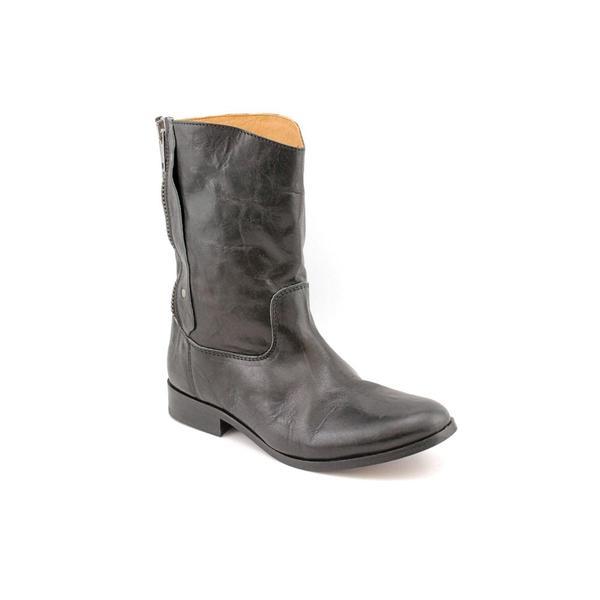 J. Litvack Women's 'Zipin' Leather Boots (Size 10.5)