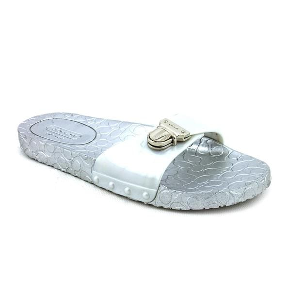 Shop Coach Womens Cybel Jelly Rubber Sandals - Free -3248