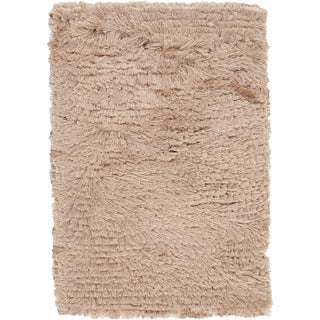 Handwoven Charade Beige Polyester Rug (5' x 8')