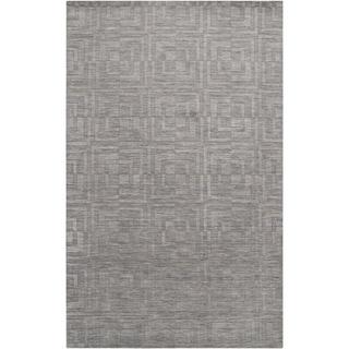 Hand-crafted Solid Grey Casual Waitemata Wool Rug (2' x 3')