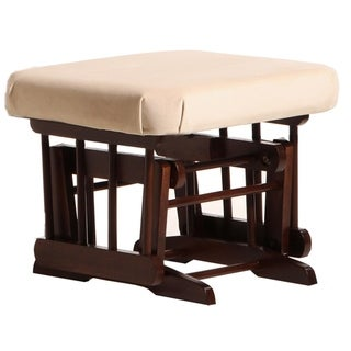 Dutailier Coffee/ Light Beige Ottoman for Sleigh and Colonial Gliders