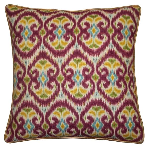 "Handmade Bali Red Decorative Pillow - 20"" x 20"""