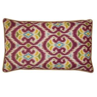 Jiti Bali Red 12 x 20-inch Decorative Down Pillow