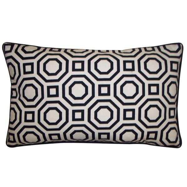 Jiti Labyrinth White 12x20-inch Decorative Pillow