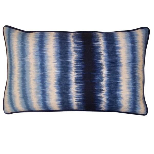 Jiti Static Blue 12x20-inch Decorative Pillow