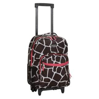 Rockland Pink Giraffe 17-inch Rolling Carry-on Upright Backpack https://ak1.ostkcdn.com/images/products/7612912/Rockland-Pink-Giraffe-17-inch-Rolling-Carry-on-Upright-Backpack-P15035004.jpg?impolicy=medium