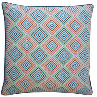 Jiti 'Squares' Blue 20-inch Pillow