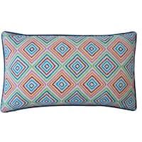 Jiti 'Square' Blue 12-inch x 20-inch Pillow