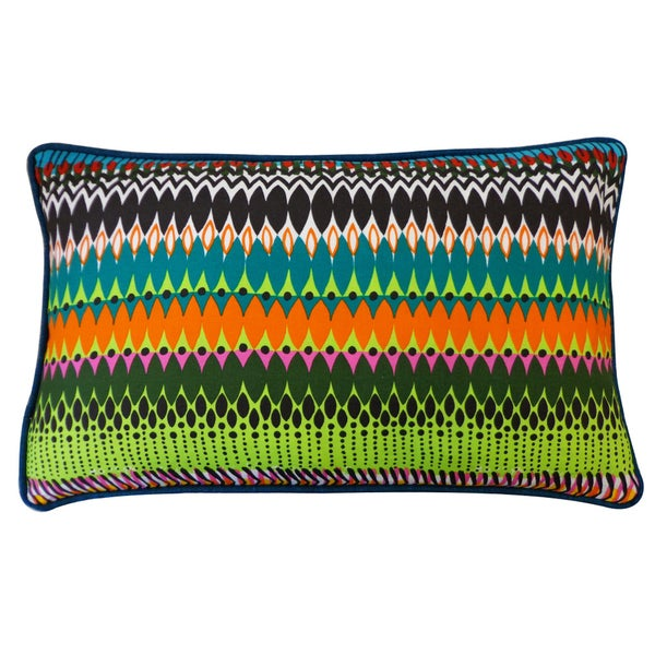 "Handmade Fire Multicolored Pillow - 12"" x 20""s"