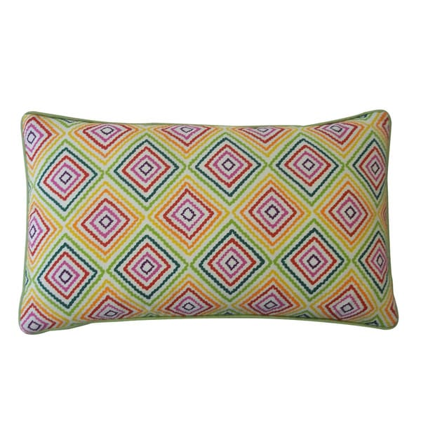 Jiti Square Green 12-inch x 20-inch Pillow - Free Shipping Today - Overstock.com - 15035034