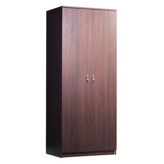 akadaHOME 72-inch Walnut Finish Wardrobe
