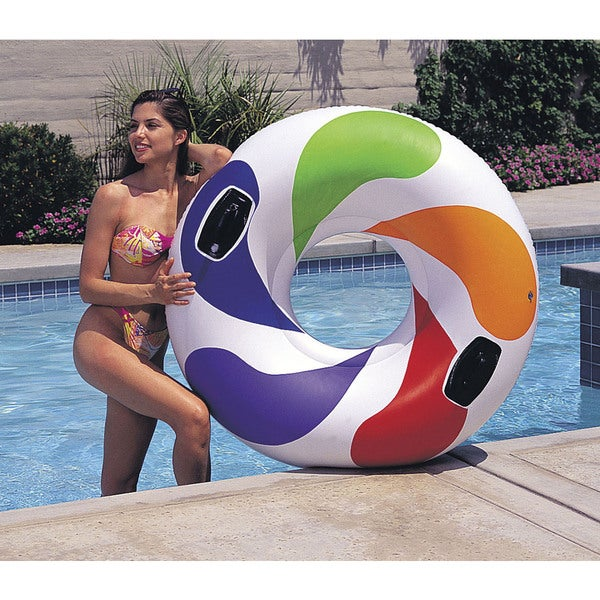 Intex Color Whirl Inflatable Tube with Handles