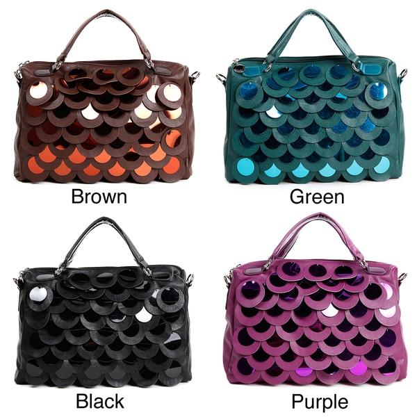 Shop Nicole Lee  Emery  Sequin Scalloped Satchel Handbag - Free ... cad267bb847b2