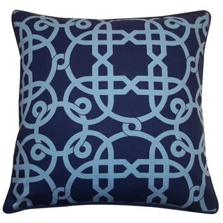 Jiti 'Web' Blue 20-inch Pillow