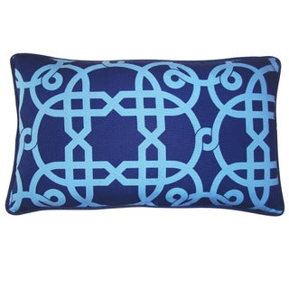 Jiti 'Web' Blue 12-inch x 20-inch Pillow