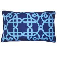 Jiti 'Web' Blue 12-inch x 20-inch Pillow