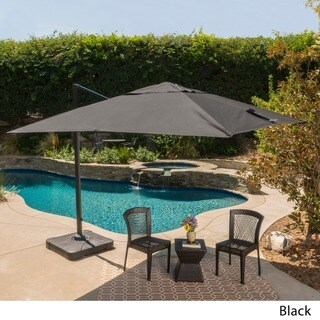 Outdoor Geneva 9'8-foot Canopy Umbrella with Stand by Christopher Knight Home