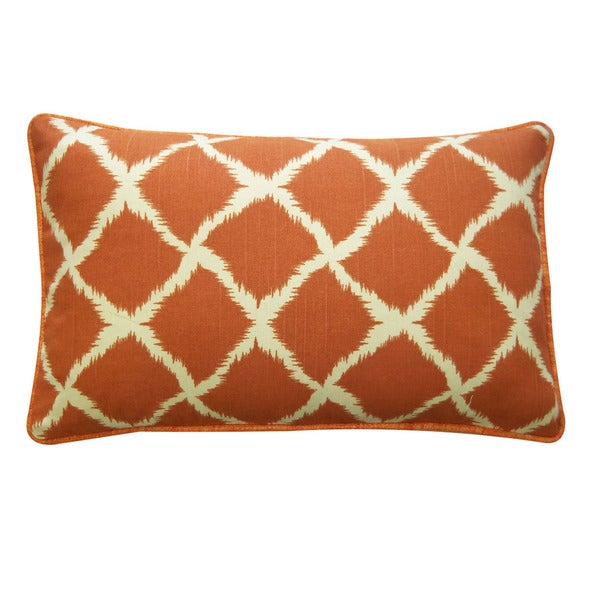 Jiti 'Fish Nets' Orange 12-inch 20-inch Pillow