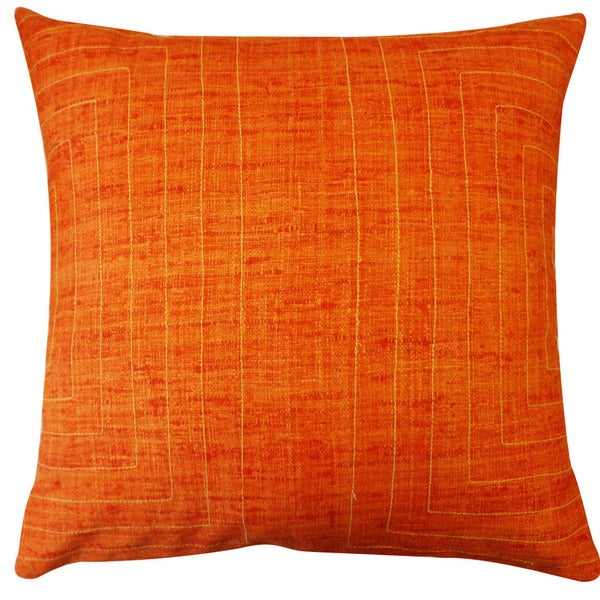 Jiti 'California' Orange 20-inch Pillow
