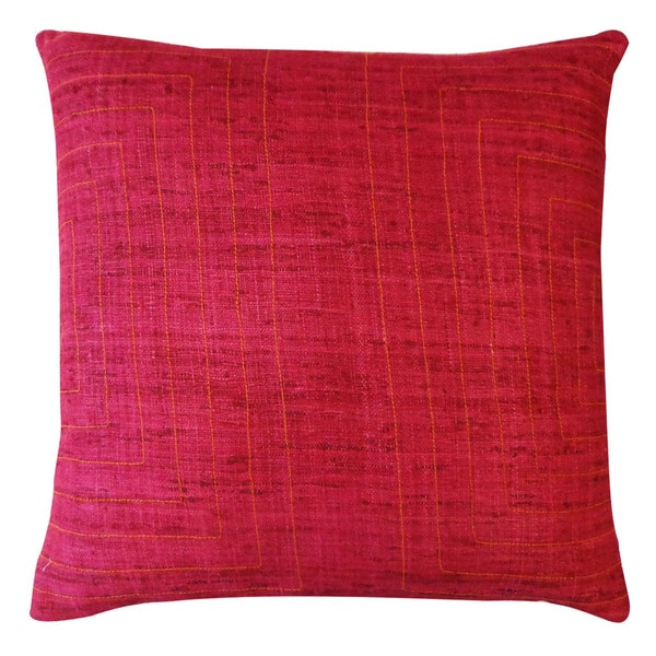 Jiti 'Streams' Maroon 20-inch Pillow