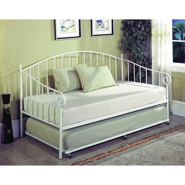 K&B BT01-WH White Finish Day Bed