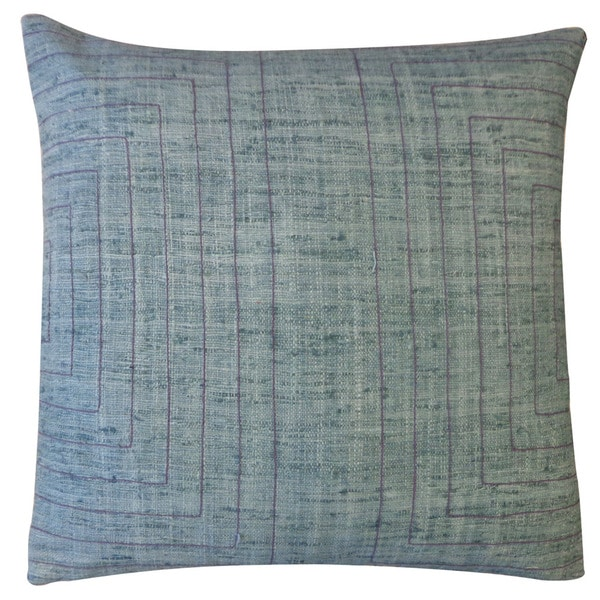 Jiti 'Streams' Grey 20-inch Pillow