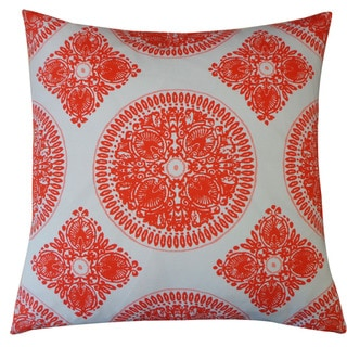 Jiti 'Medallion' Orange 24-inch Pillow