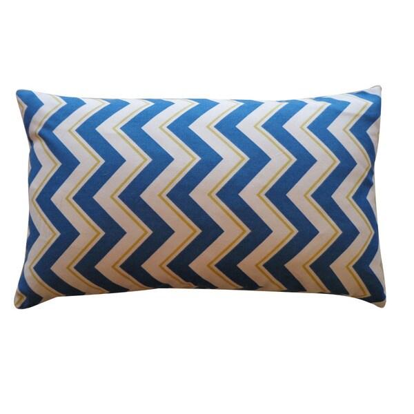 Jiti 'Alberta' Blue 12 x 20-inch Down Pillow