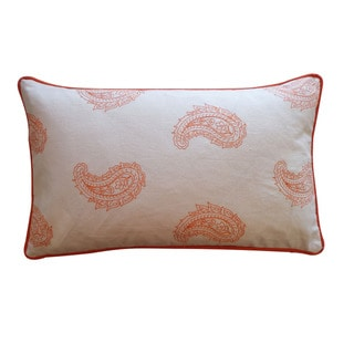 Jiti 'Angela' Orange 12-inch x 20-inch Down Pillow