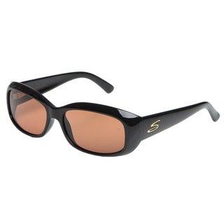 Serengeti 'Bianca' Women's Black Rounded Fashion Sunglasses