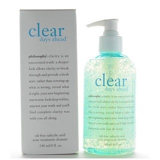 Philosophy Clear Days Ahead Oil-Free 8-ounce Acne Treatment Cleanser