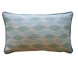 Jiti 'Dylan' Aqua 12-inch x 20-inch Pillow