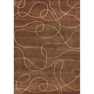 Alliyah Handmade Brown New Zealand Blend Wool Rug 9x12|https://ak1.ostkcdn.com/images/products/7613195/P15035213.jpg?impolicy=medium