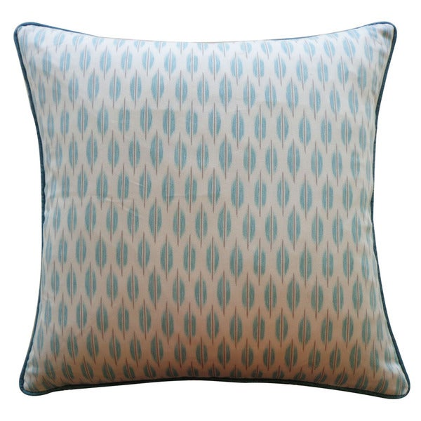 "Handmade Arrow Aqua Pillow - 20"" x 20"". Opens flyout."
