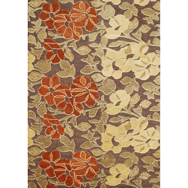 Alliyah Handmade Tobacco Brown New Zealand Blend Wool Rug