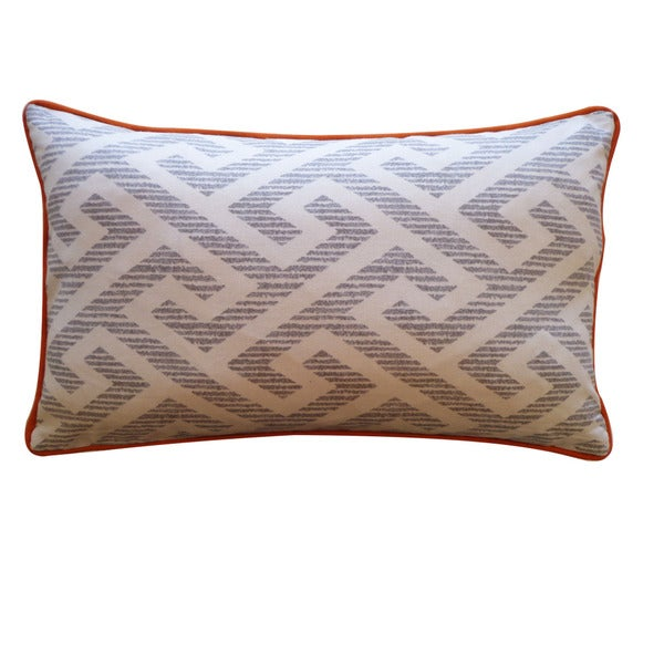 Jiti 'Labyrinth' Grey 12-inch x 20-inch Pillow