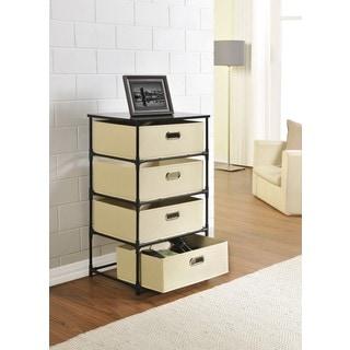 Ameriwood Home 4-bin Storage End Table