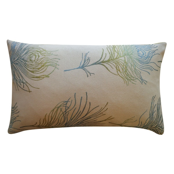 Jiti 'Feather Positive' Green 12-inch x 20-inch Pillow