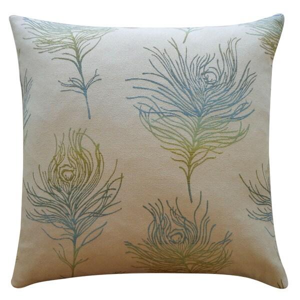 Jiti 'Feather Positive' Green 20-inch Pillow