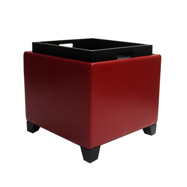 Good Armen Living Contemporary Storage Ottoman With Tray   Free Shipping Today    Overstock.com   15035227