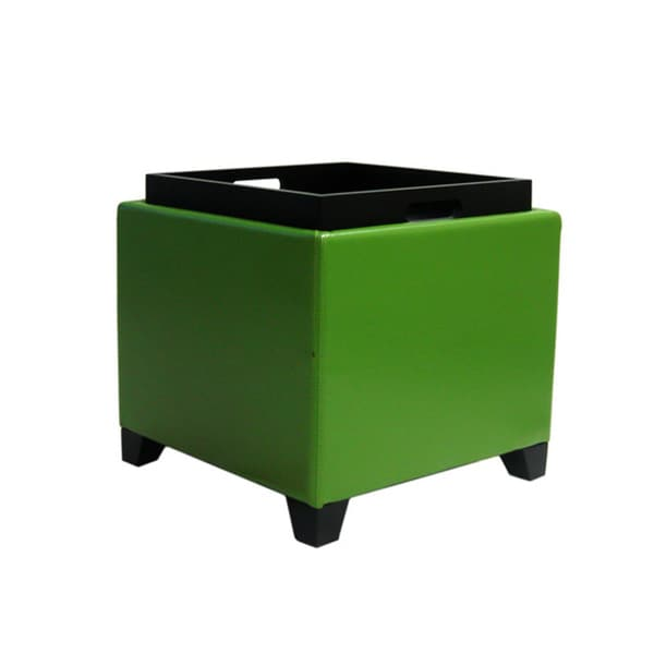 Armen Living Contemporary Storage Ottoman with Tray - Free Shipping Today -  Overstock.com - 15035227 - Armen Living Contemporary Storage Ottoman With Tray - Free