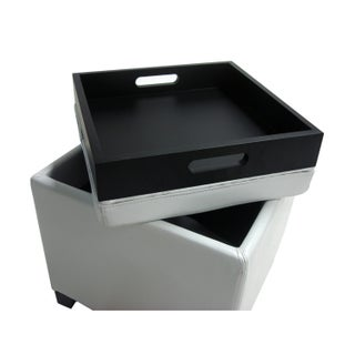 Clay Alder Home Easley Contemporary Storage Ottoman with Tray (3 options available)