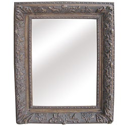 Antique Wood Traditional Rectangular 31-inch Wall Mirror