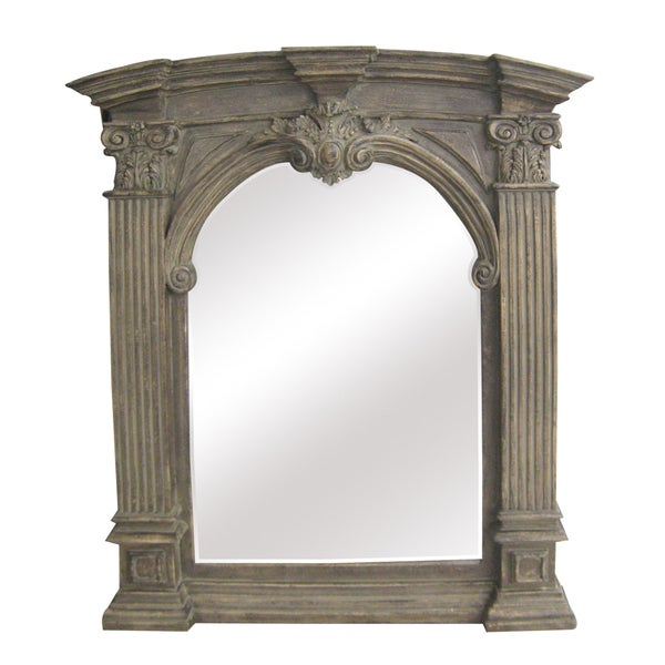 Antique Wood Traditional Arch 30 Inch Wall Mirror Free