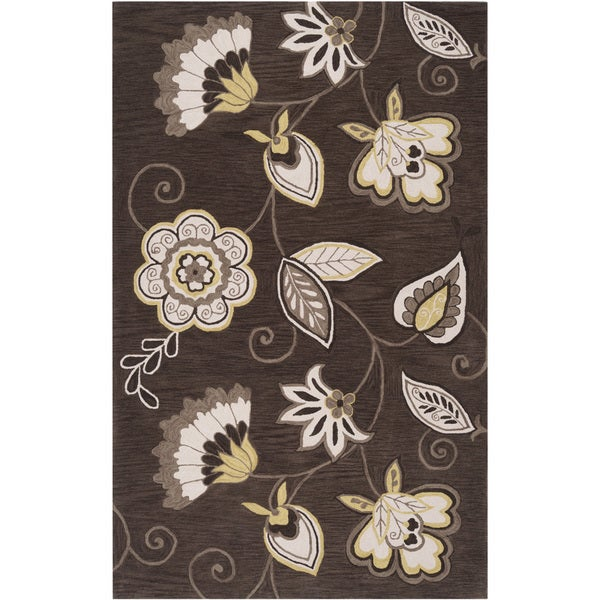 Hand-tufted Timmins Brown Oil Rug (8' x 10'6)