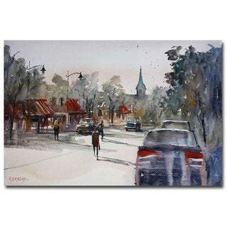 Ryan Radke 'Cedarburg Impressions of Summer' Canvas Art
