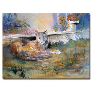Ryan Radke 'Cat Nap' Canvas Art