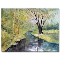 Ryan Radke 'Covered Bridge Park I' Canvas Art